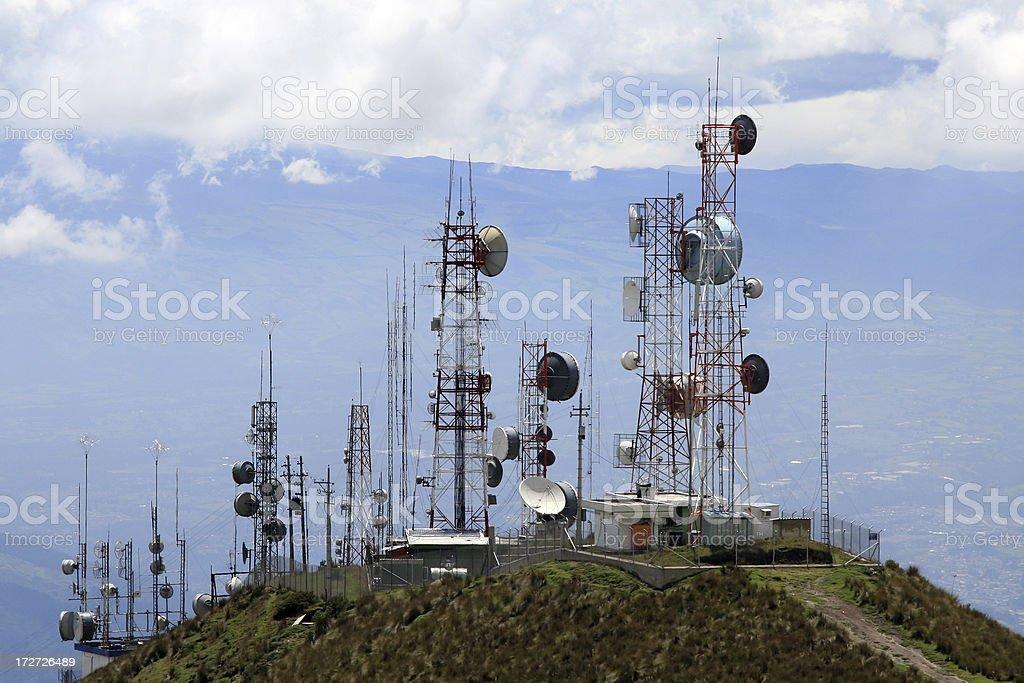 Communication Antennas royalty-free stock photo