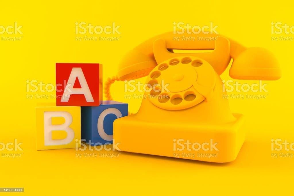 Oyuncak blokları ile iletişim arka plan - Royalty-free Alfabe Stok görsel