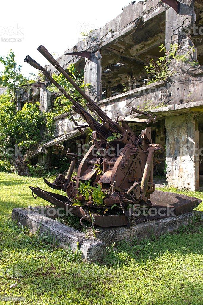 Communication Base - Palau, Micronesia stock photo
