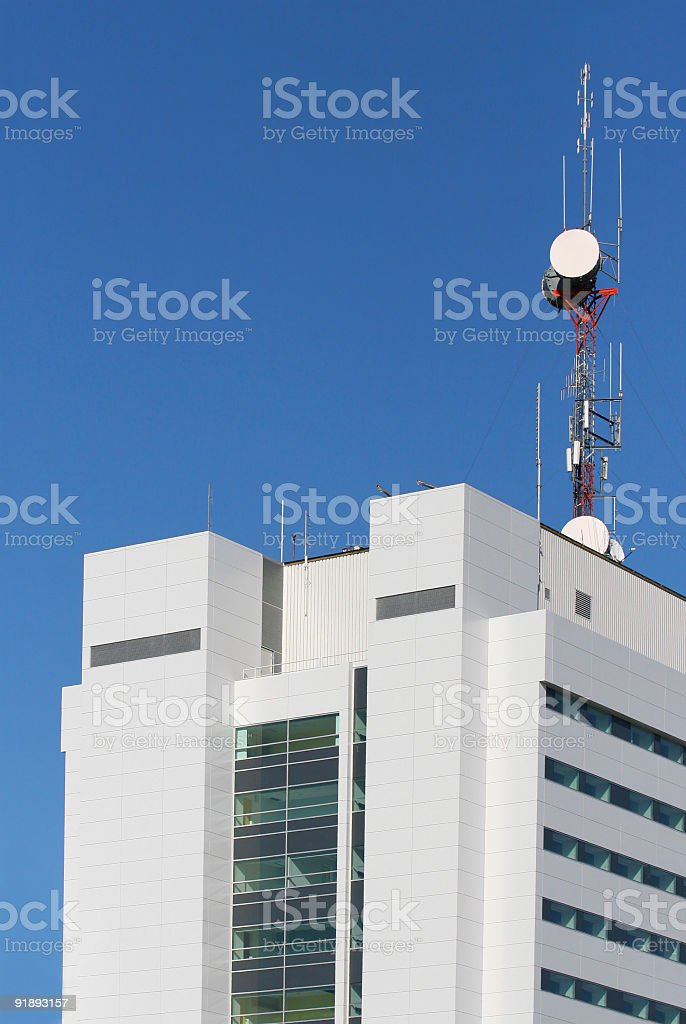 Communication Building stock photo