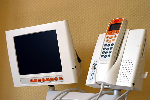 Communication center stock photo
