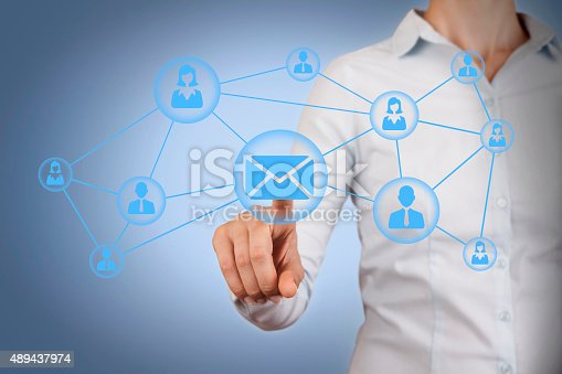istock Communication Conceptual on Visual Screen 489437974