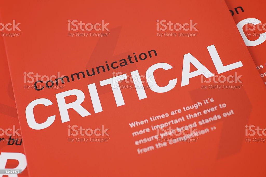 Communication Critical... royalty-free stock photo