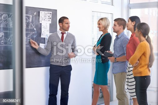 istock Communication is the brother of leadership 504368241