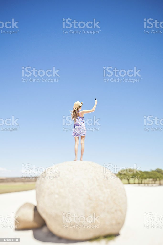 Communication issues - searching for cellular service royalty-free stock photo