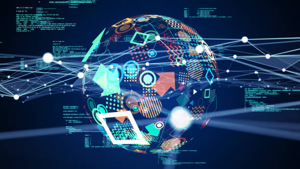 Communication network concept. Digital transformation. stock photo