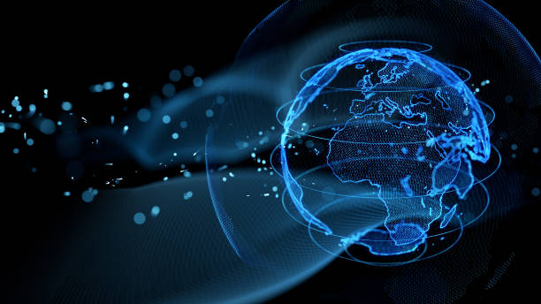 Communication network concept. Graphical User Interface. stock photo