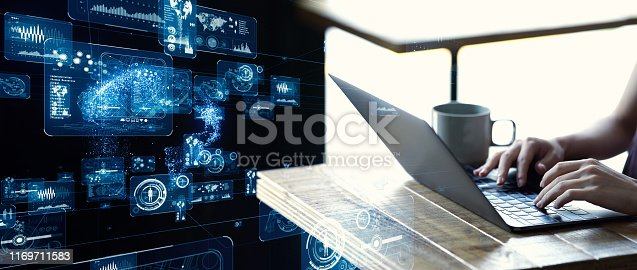 824079932istockphoto Communication network concept.  GUI (Graphical User Interface). 1169711583