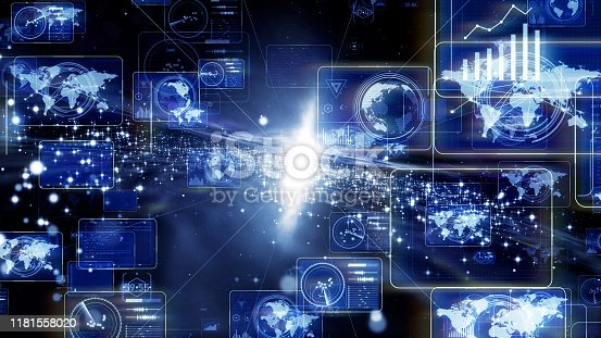 1154261846 istock photo Communication network concept. IoT (Internet of Things) concept. 1181558020