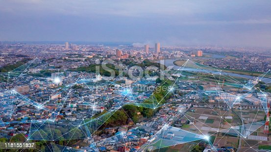 istock Communication network concept. IoT (Internet of Things). 1181551837