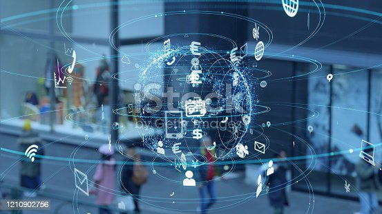 681672754 istock photo Communication network concept. IoT (Internet of Things) . 1210902756