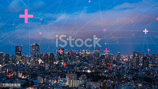 1129543876 istock photo Communication network concept. Low power wide area. Smart city. 1154231816