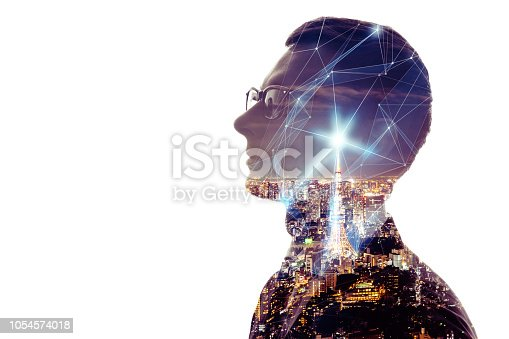 istock Communication network concept. 1054574018