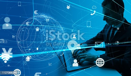 861122560 istock photo Communication network concept. 1127066246