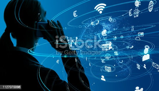 479762254 istock photo Communication network concept. 1127070098