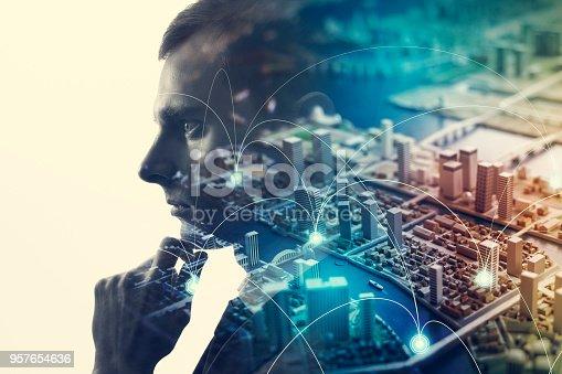 1054574018istockphoto Communication network concept. 957654636