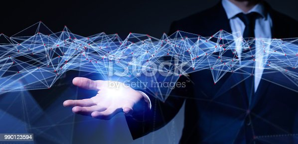 istock Communication network concept. 990123594