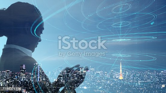 1054574034istockphoto Communication network concept. Smart city. 1154371726
