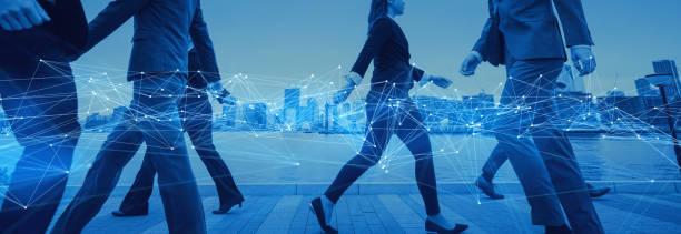 communication network concept. technology of business. - agilidade imagens e fotografias de stock