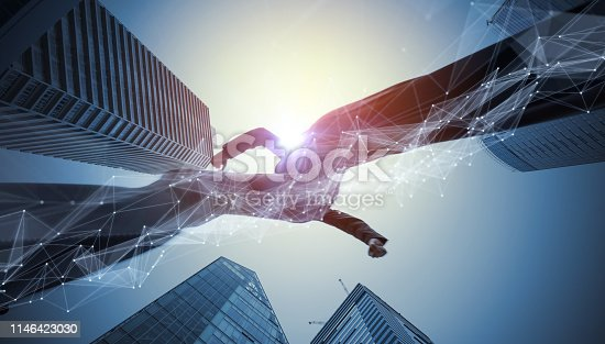 istock Communication network concept. Technology of business. 1146423030