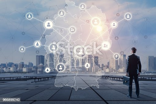 istock Communication network of Germany. 966899240