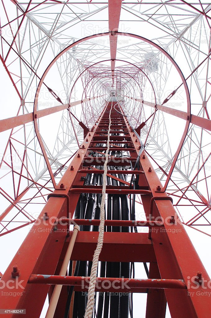 Communication Pole royalty-free stock photo