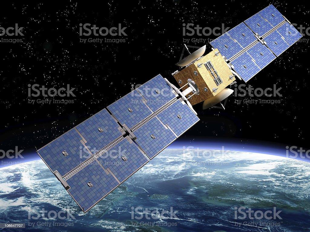 Communication Satellite stock photo