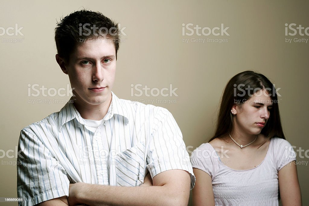 Communication Struggles - Frustrated, Fighting Couple royalty-free stock photo