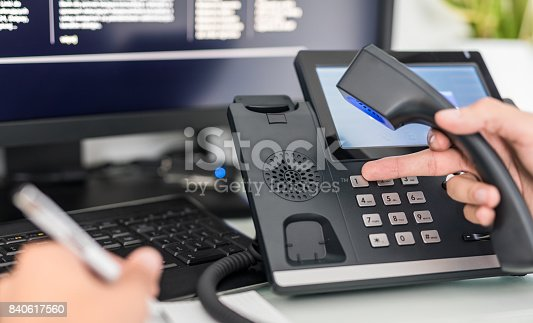 istock Communication support, call center and customer service help desk. 840617560