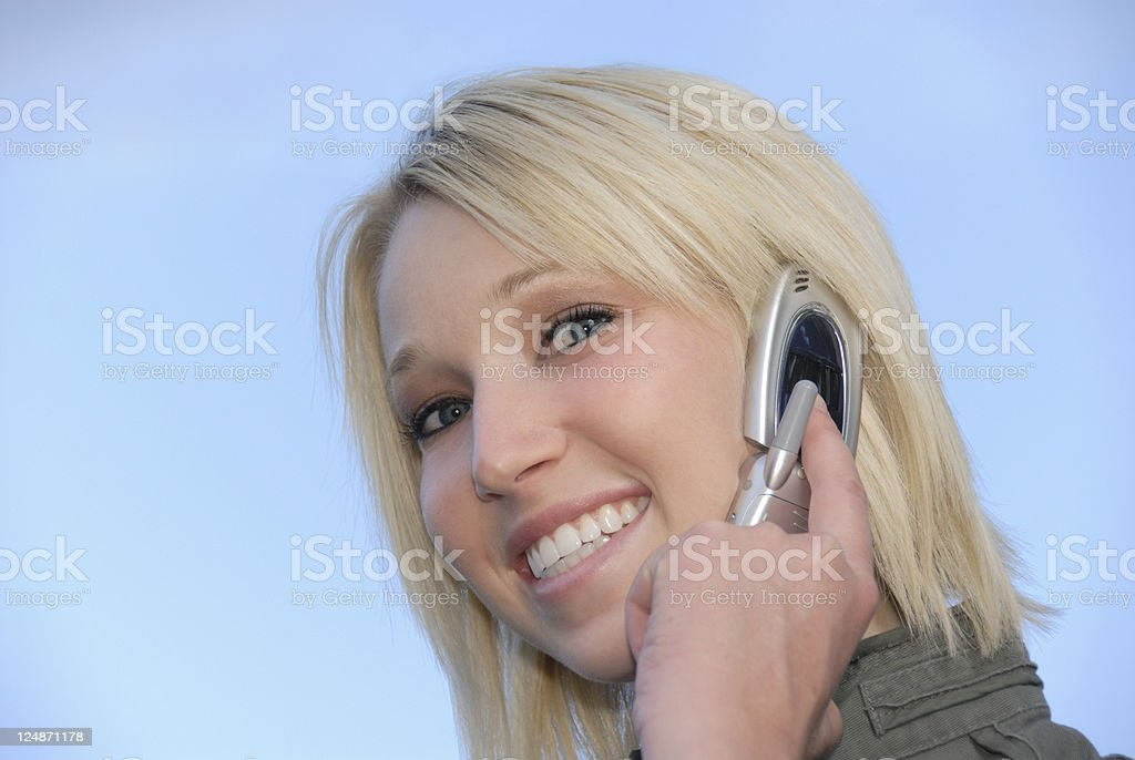 Communication Technology Plus Beauty royalty-free stock photo