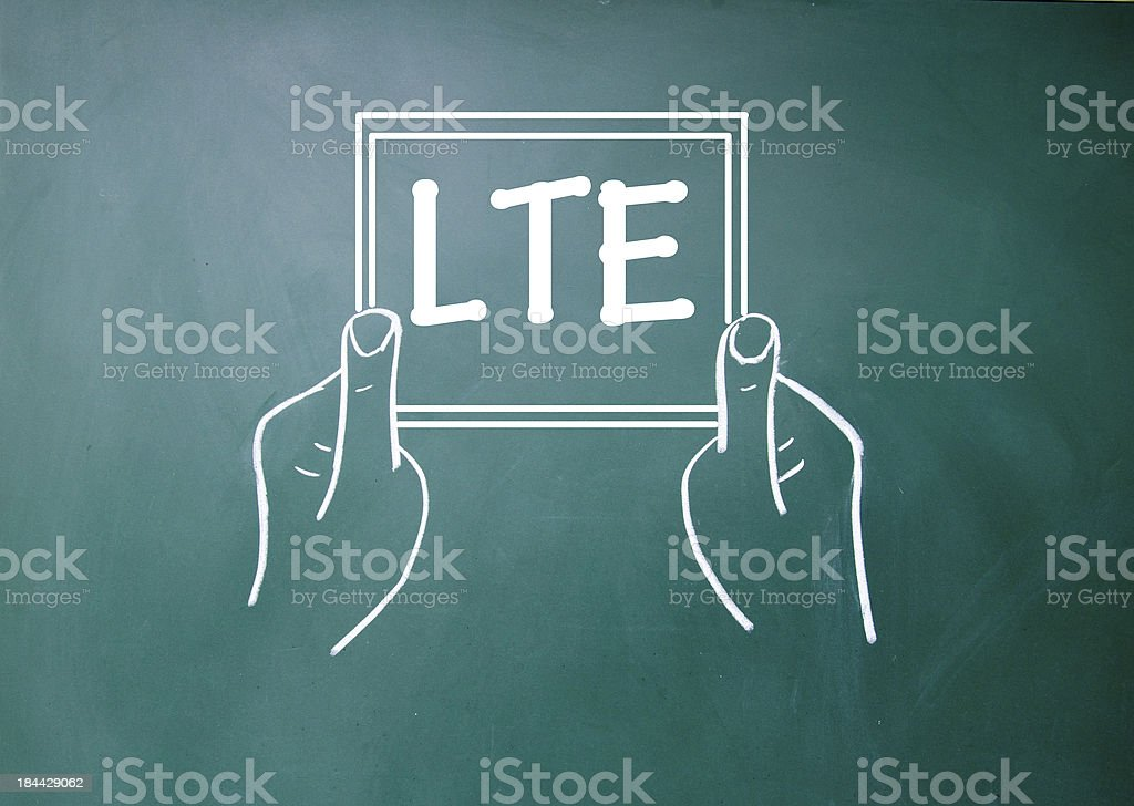 LTE communication technology sign royalty-free stock photo