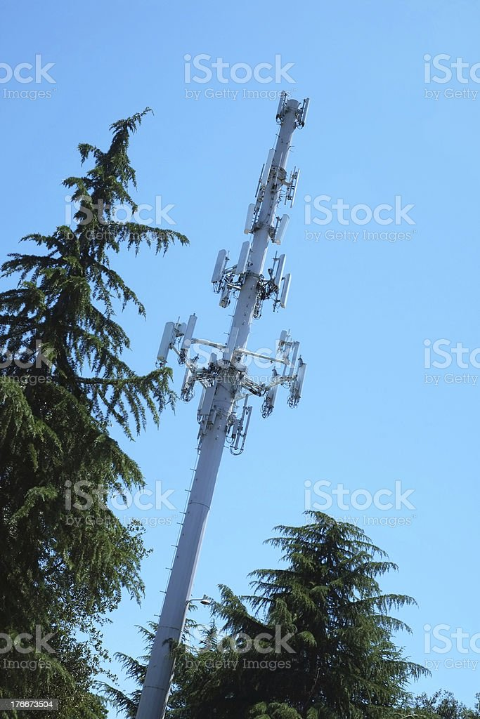 Communication Tower blending into environment royalty-free stock photo