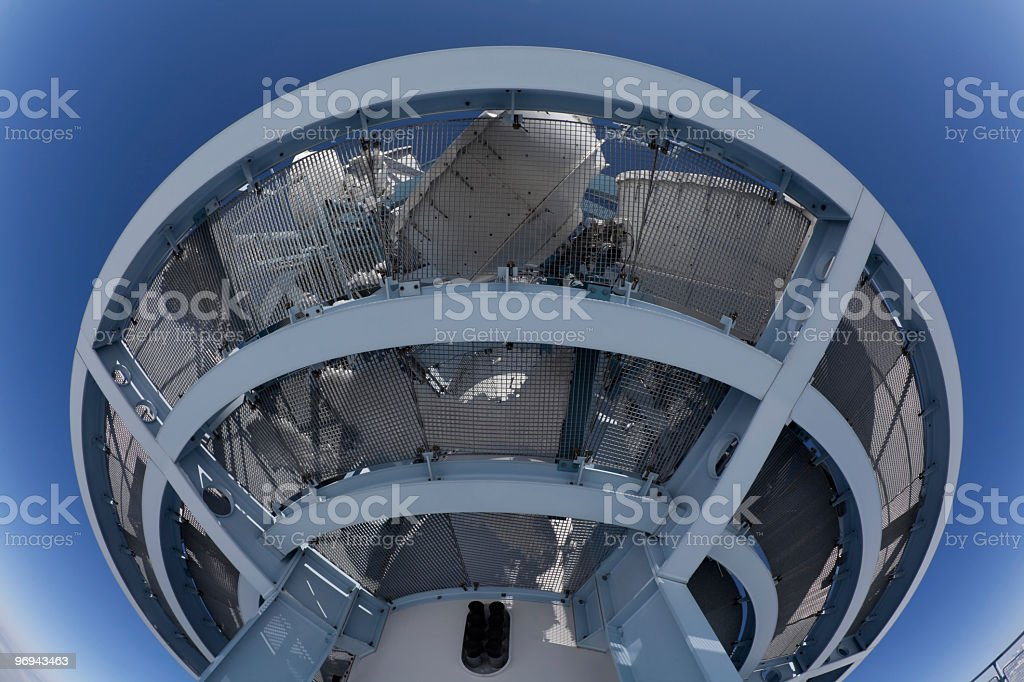 Communication Tower from down below at Mount Rigi, Switzerland royalty-free stock photo