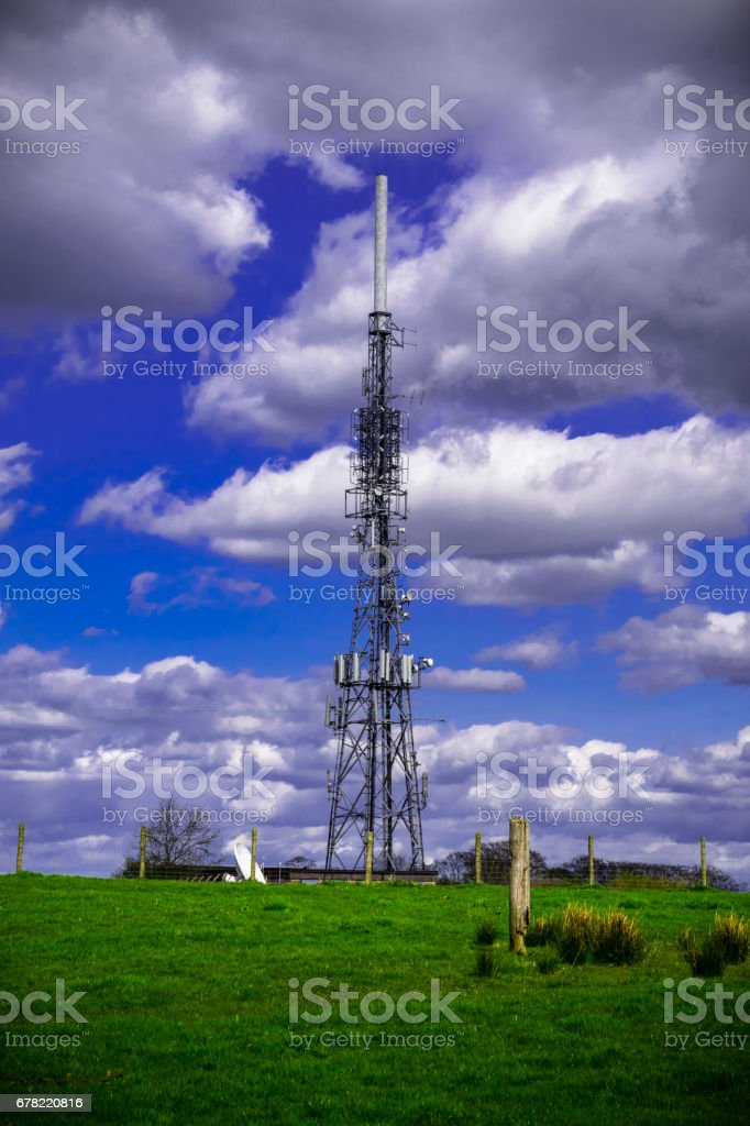 Communication Tower On The Countryside stock photo