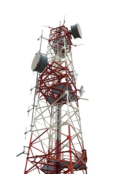 torre di comunicazione - ripetitore foto e immagini stock