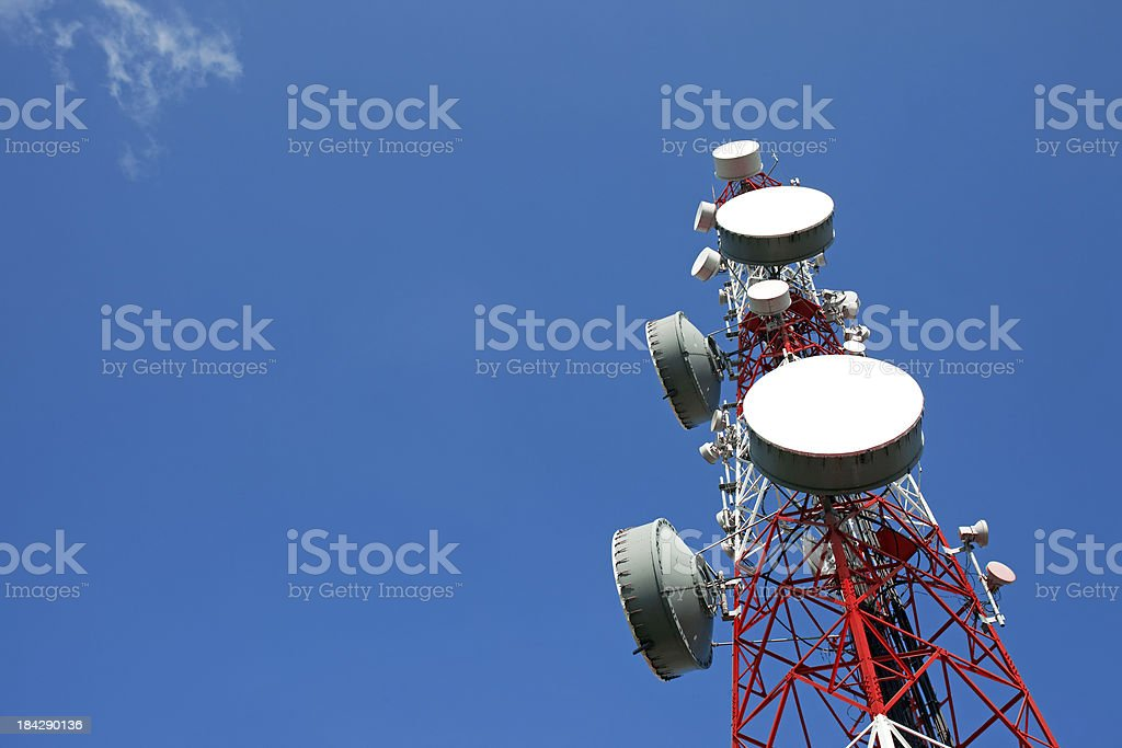 Communication tower stock photo