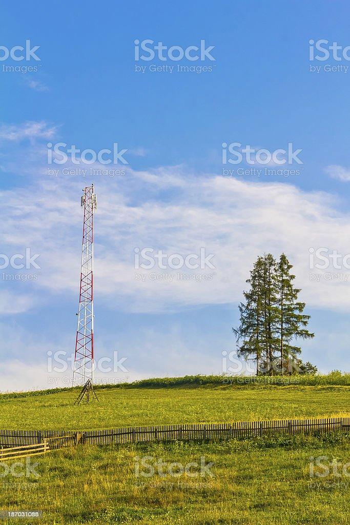 Communication Tower royalty-free stock photo