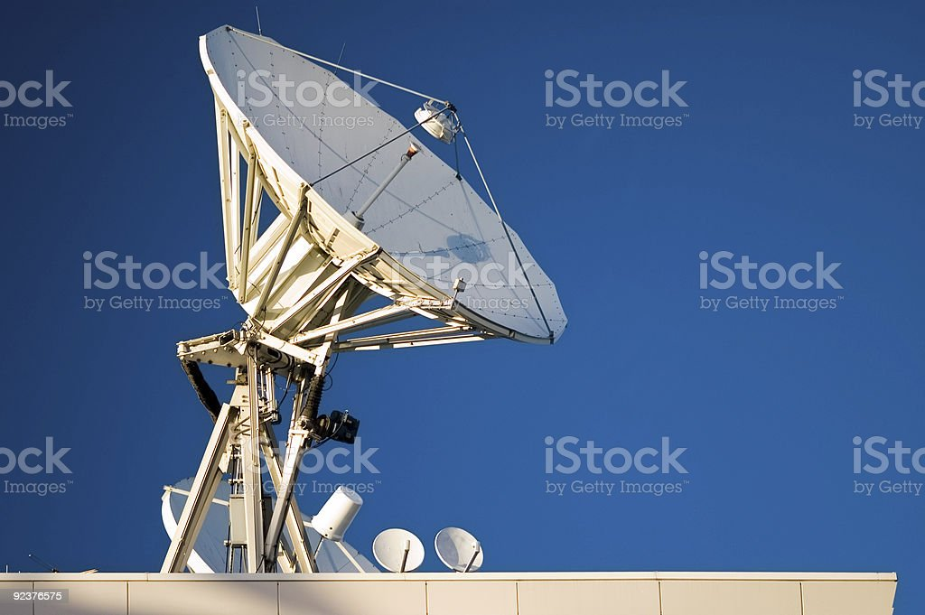 Communication Tower - Satellite Uplink royalty-free stock photo