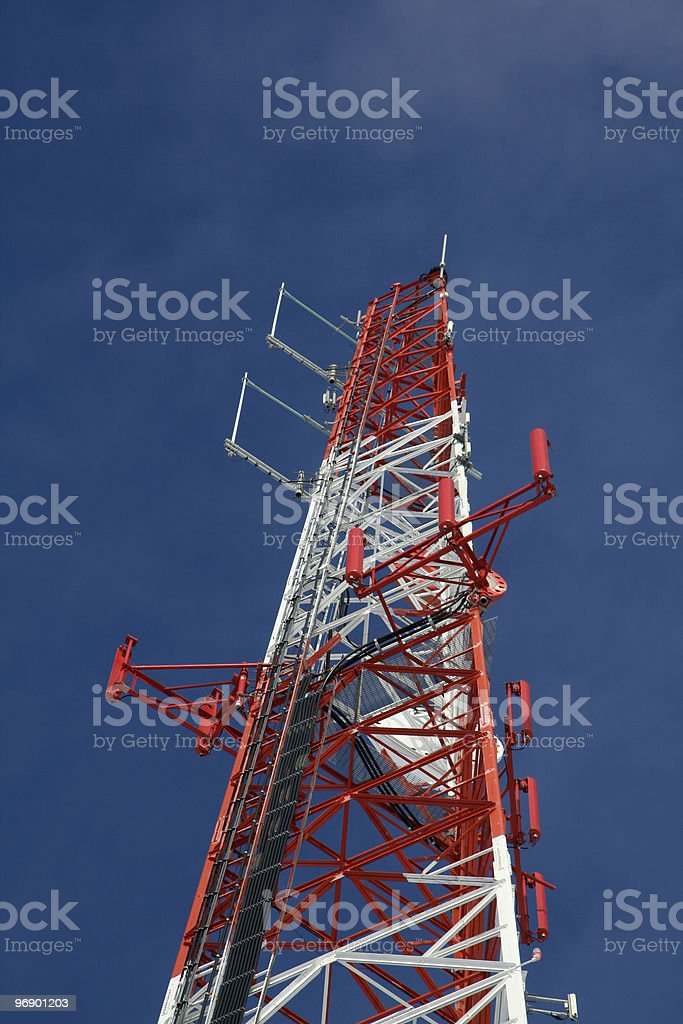 Communication Tower Top royalty-free stock photo