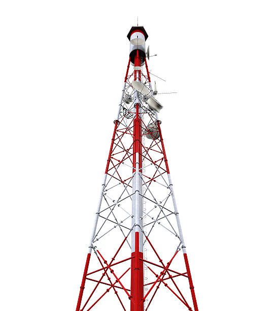 Best Cell Phone Antenna Tower Isolated On White Stock Photos
