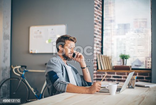 istock Communication with client is everything. 495613110