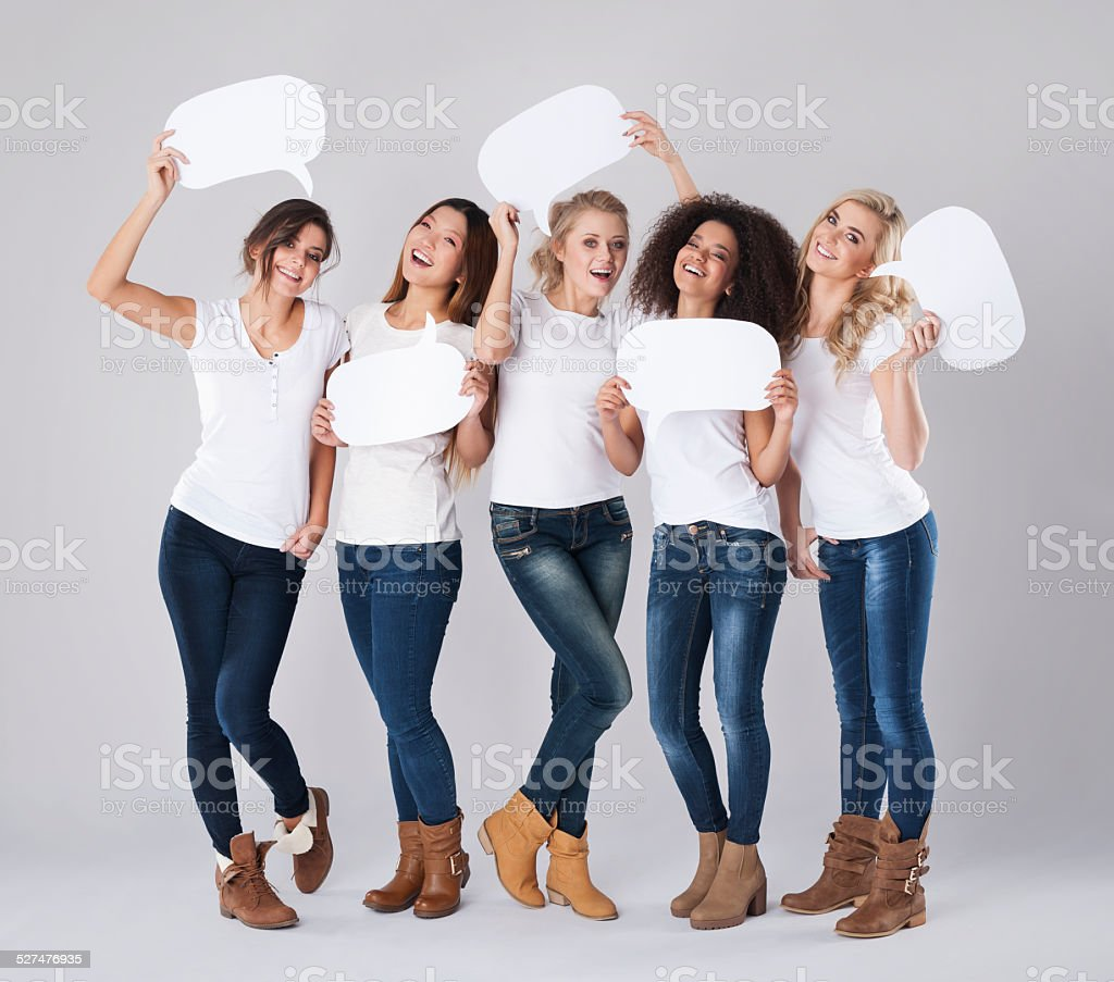 Communication with people from different country stock photo