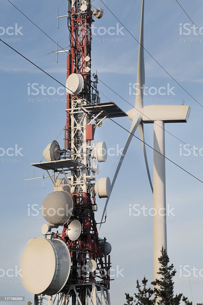 Communications and energy royalty-free stock photo