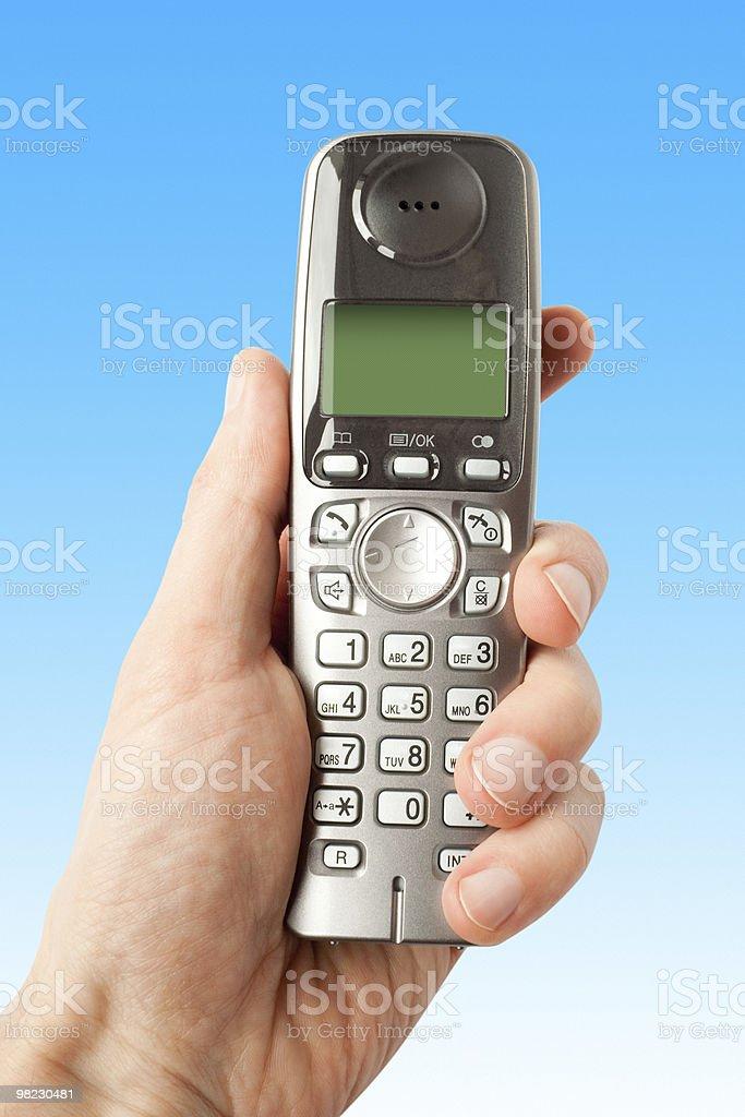 Comunicazioni dito con il telefono foto stock royalty-free