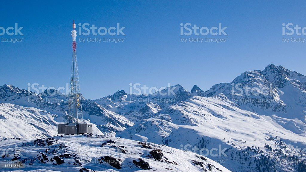 Communications Mast royalty-free stock photo