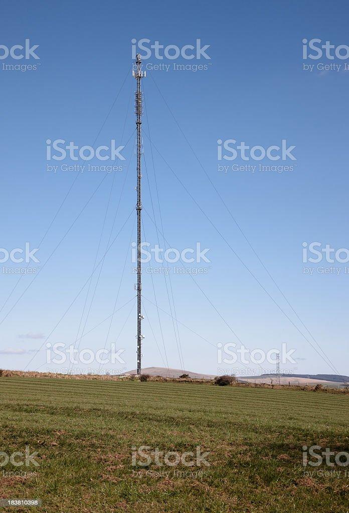 TV communications mast royalty-free stock photo