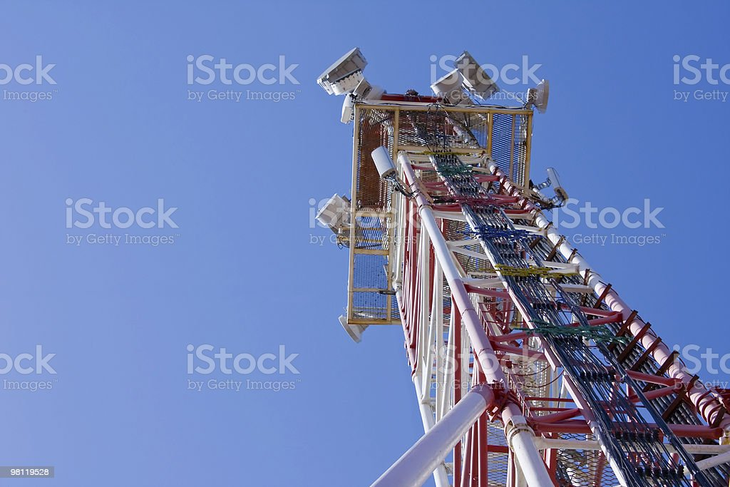 Communications Mast - Steel Tower royalty-free stock photo