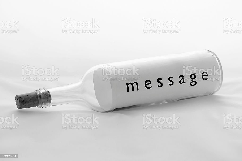 Communications - Message In A Bottle royalty-free stock photo