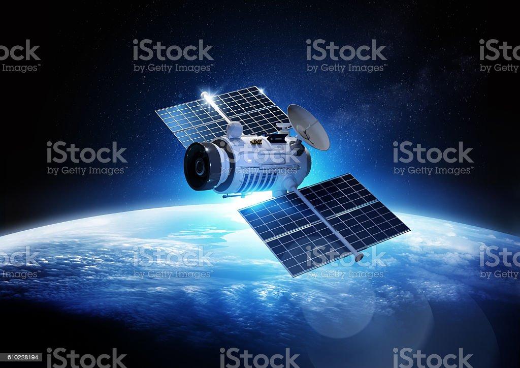 Communications Satellite stock photo