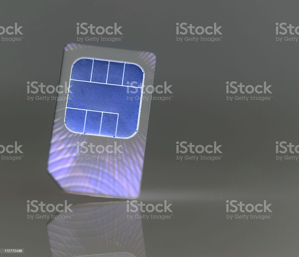 Communications sim card from phone Macro royalty-free stock photo